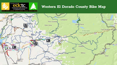 Western El Dorado County Bike Map